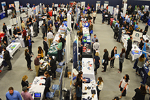 One hundred and twenty organizations were on hand at California Baptist University to offer internships, part-time jobs or full-time employment at the Spring Career Fair on Feb. 21.