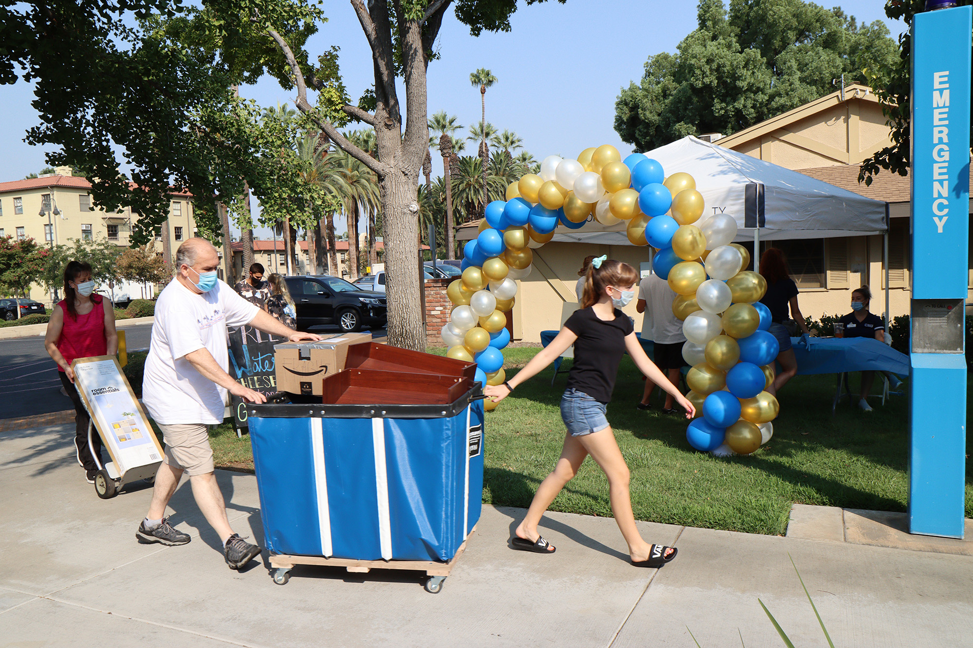 It was more than just the summer heat that gave the newest Lancers a warm welcome as they moved onto campus at California Baptist University on Aug. 20-21.