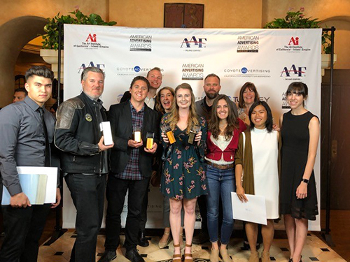 CBU students win numerous awards at a regional advertising event