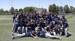 California Baptist University secured a share of the Western Athletic Conference championship with a 9-4 victory over New Mexico State University on May 18.