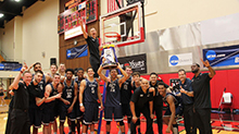 The men's basketball team at California Baptist University claimed its first NCAA Division II West Region Championship with its 80-76 victory over No. 1 seed Western Oregon.