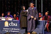 Master's hooding ceremonies celebrate graduate students' achievements at CBU