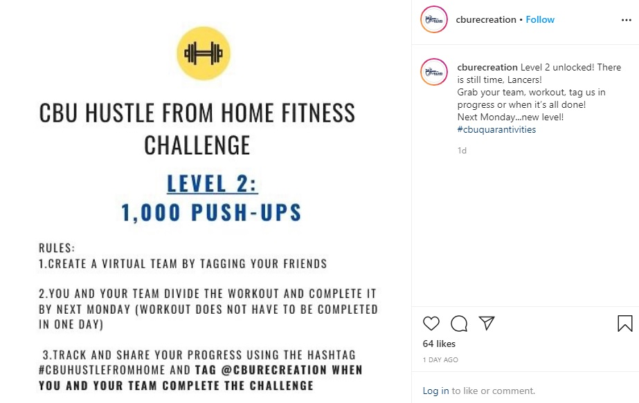 CBU Hustle From Home Fitness