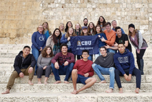 CBU group participates in inspiring and educational trip to Israel