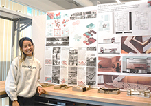 CBU architecture students display their creative works