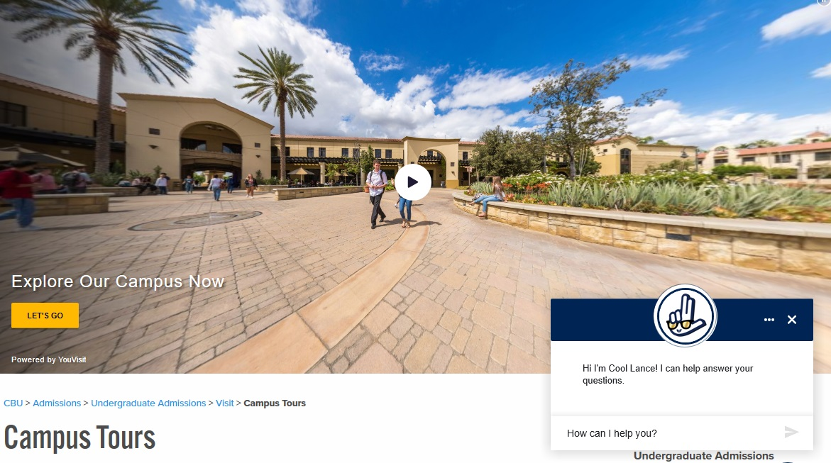 Admissions at CBU does a 'virtual pivot' to help new, prospective students