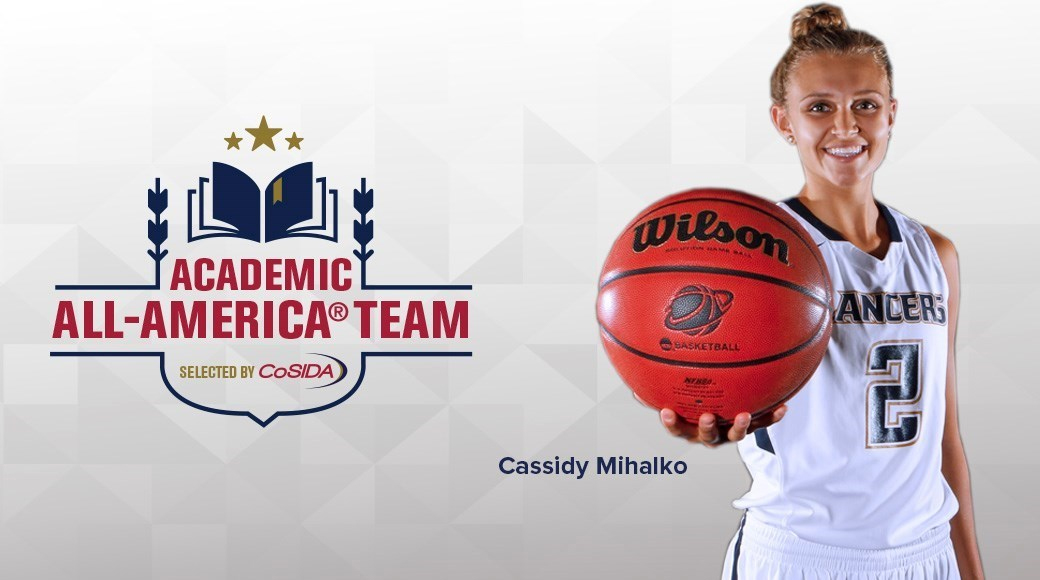 Cassidy Mihalko added another accolade to her senior season when the California Baptist University guard received the 2016-17 CoSIDA Academic All-America of the Year award on March 1.