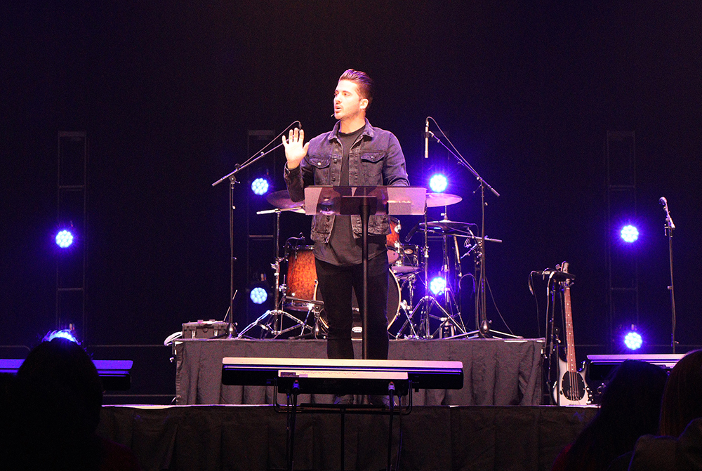 """Know that your purpose is to point everything in your life back to God,"" Brad Ormonde Jr., told a chapel audience at California Baptist University on Jan. 14."