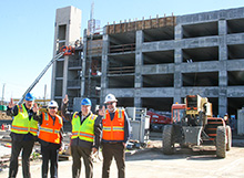 California Baptist University and Swinerton Builders  hosted a Topping Out ceremony on Jan. 22, celebrating the final pouring of cement for the structure of the East Parking garage.
