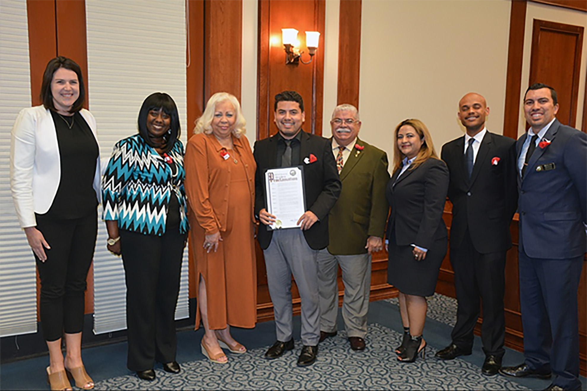 Eduardo Sida receives proclamation from city of Perris