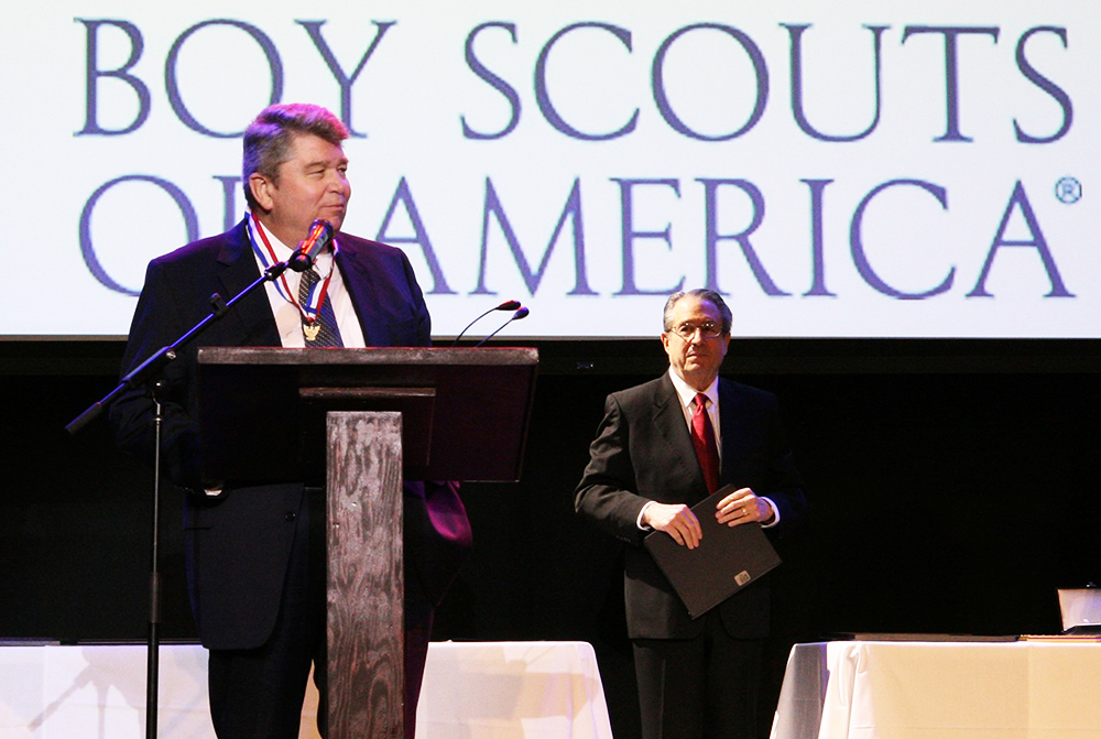 CBU president receives high honor from Boy Scouts