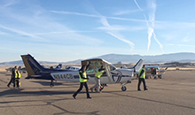 Four aviation science students from California Baptist University put their learning to the test at the National Intercollegiate Flying Association (NIFA) Region II competition on Nov. 13-17 in Prescott, Arizona.