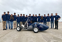 Matt Miller, a mechanical engineering senior at California Baptist University, has become a car guy thanks to the Society of Automotive Engineers student club within the Gordon and Jill Bourns College of Engineering.