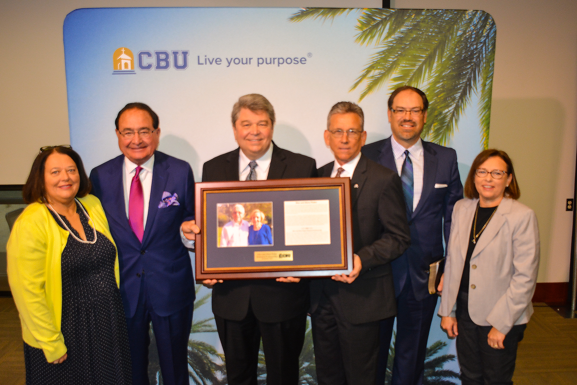 The School of Christian Ministries at California Baptist University commemorates its first $1 million endowed professorship, named in honor of Dr. Glen and Alene Paden on April 5.