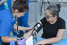California Baptist University students and faculty offered their clinical and educational assistance at a free community health clinic hosted at Arlanza Elementary School on Sept. 30.