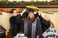 Graduate hooding ceremonies celebrate students' achievements at CBU