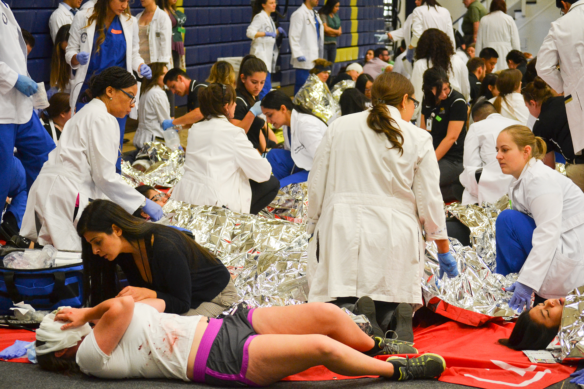 Disaster simulation aims to prepare CBU students for real-life responses