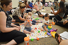 Infant lab at CBU brings babies to kinesiology class