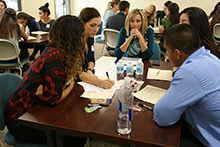 More than 100 California Baptist University graduate students from six health care programs gathered on Oct. 28 as part of a pilot program for new interprofessional education (IPE).