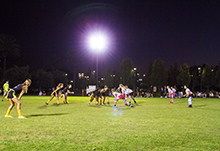 Intramural football kicks off the hunt for the Fortuna Bowl Trophy