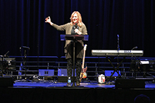 """What would move some of you in the crowd to be a disciple of Jesus?"" Kay Warren asked a California Baptist University audience on Jan. 15."