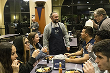 CBU students take advantage of a late-night breakfast during finals week