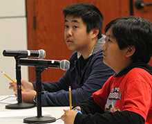California Baptist University hosted students from 48 middle schools from Riverside and San Bernardino counties for a regional MATHCOUNTS competition, on Feb 11.