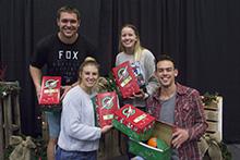 CBU community packs shoeboxes for Operation Christmas Child