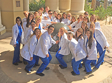 The inaugural class for the Master of Science in physician assistant (PA) studies at California Baptist University participated in white coat ceremony on Sept. 29.