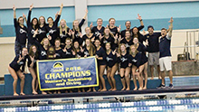 The Lancer men's and women's swimming and diving teams swept the Rocky Mountain Athletic Conference Championships in Grand Junction, Colorado, on Feb. 17.