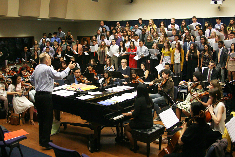 Rehearsal Camp at CBU helps students find the right note