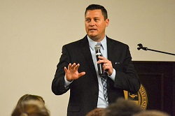 Treating addiction as a disease and working toward recovery is not only beneficial for the families but for taxpayers as well, Phil Breitenbucher ('00), told a California Baptist University audience.
