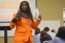 Robin Renee Sanders, former U.S. Ambassador to the Republic of Congo (2002-2005), urged California Baptist University students to be aware of worldwide struggles on March 25.