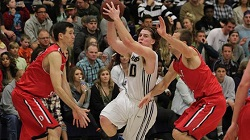History was made in Van Dyne Gym Saturday night. California Baptist University defeated Dixie State 100-90 with its first victory over the Red Storm and kept its winning streak alive in front of a packed home court.
