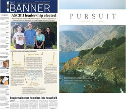 Two of California Baptist University's campus publications, The Banner newspaper and Pursuit magazine, took home top national awards at recent journalism conferences in Los Angeles and New York City.