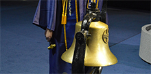 CBU commencement tradition calls for the ringing of the bell by distinguished students