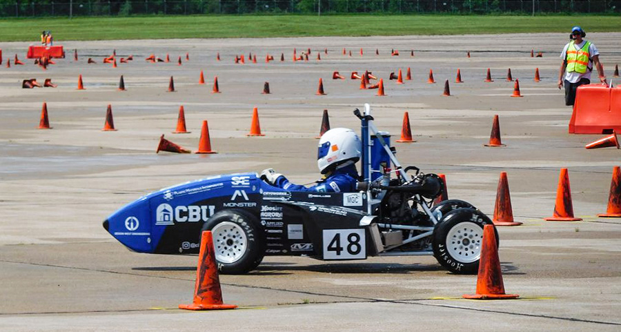 CBU students compete in Formula SAE races in a car they constructed