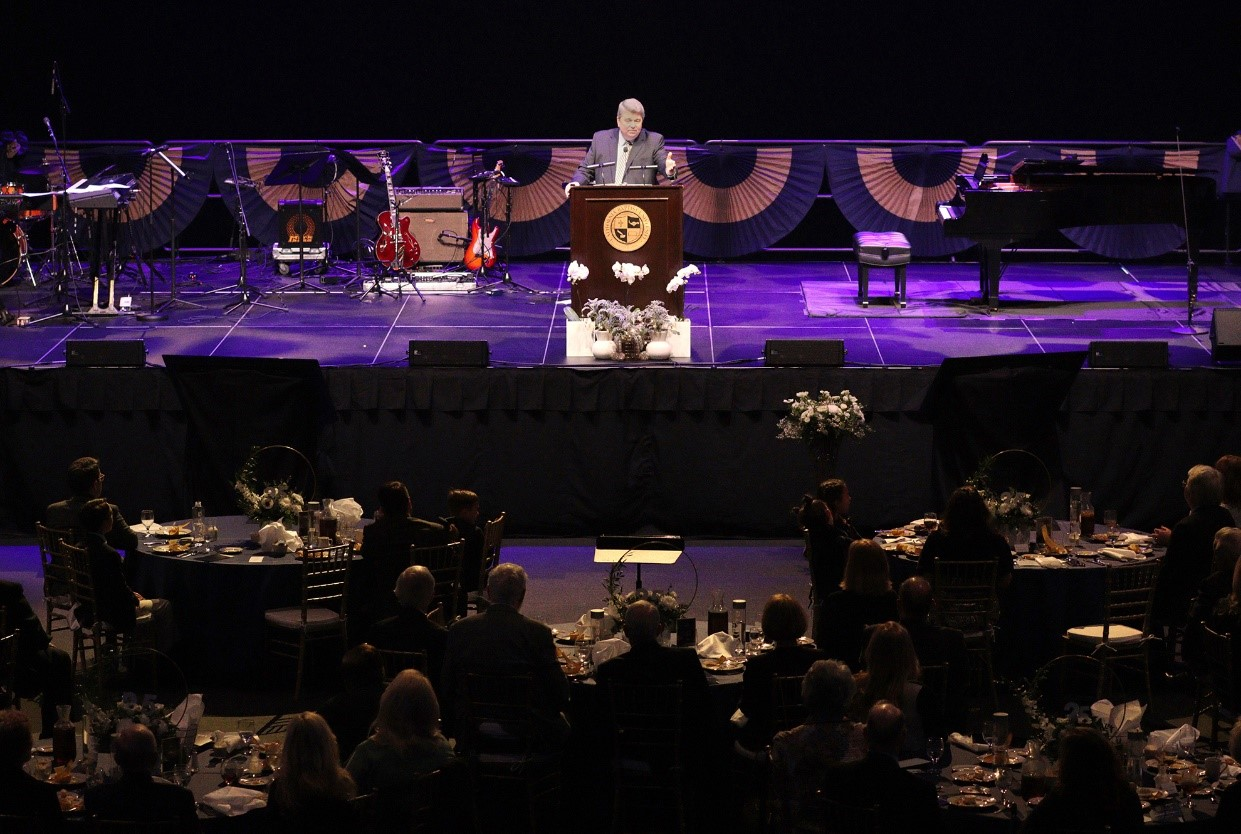 More than 200 people attended an event celebrating the 25 years of Dr. Ronald L. Ellis as president of  California Baptist University on Jan. 16. Ellis officially marked his 25th anniversary as CBU president on Nov. 1, 2019.