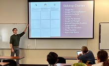 Matthew Ressler, a marketing senior at California Baptist University, spoke passionately about search engine optimization (SEO) to a group of his peers on Oct. 17.