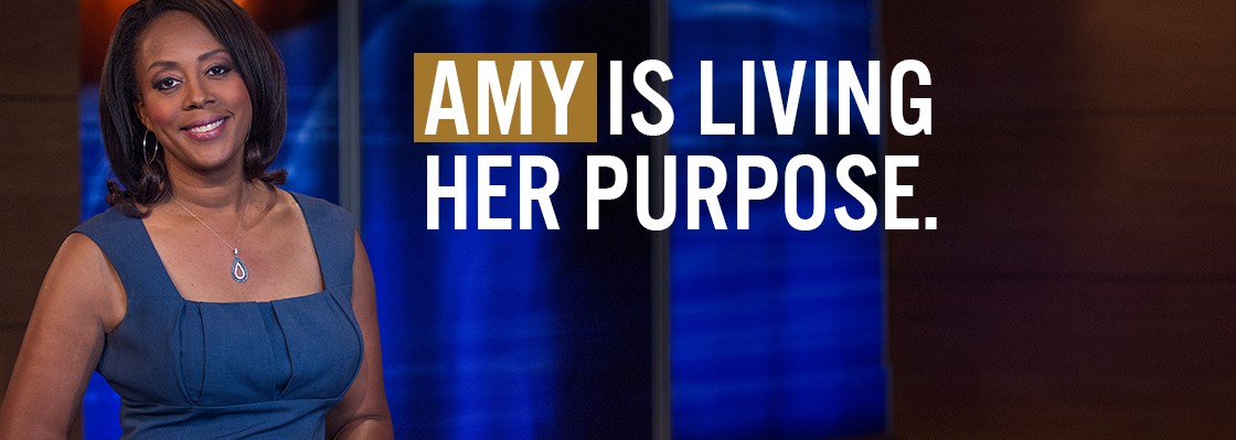 AMY IS LIVING HER PURPOSE