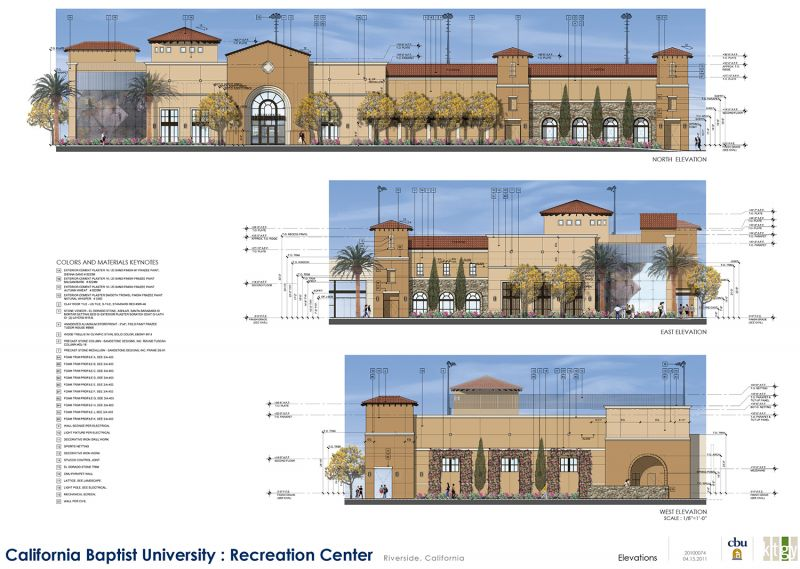 CBU Recreation Center Elevation One