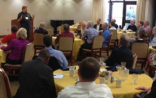 Dr. Ronald Ellis, CBU president, speaks to a group of top college administrators at the annual meeting of the International Association of Baptist Colleges and Universities.