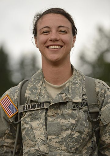 ROTC cadet Celeste Diamond