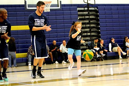 The CBU men's basketball team hosted a basketball clinic for Special Olympics athletes Nov. 2
