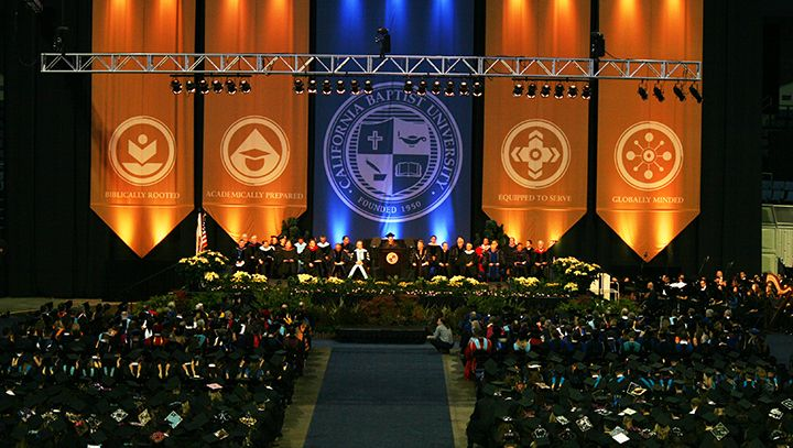 Dr. Ronald L. Ellis, CBU president, conferred degrees on 95 graduate students and 264 undergraduate students for a total of 359 graduates during fall commencement ceremonies in the Citizens Business Bank Arena in Ontario..