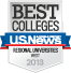 US News Best Colleges of 2013
